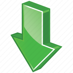 arrow, down, download, downloads, glossy, now icon