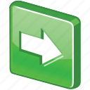 arrow, forward, glossy, go, next, redo, right icon