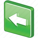 arrow, back, before, glossy, go, left, next, prev, previous icon