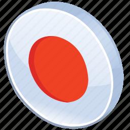 bullseye, button, circles, dot, glossy, media, record, round, sound icon
