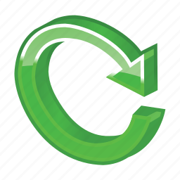 arrow, glossy, green, refresh, reload, renew, update icon