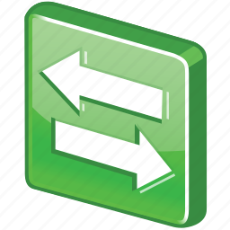 arrow, change, exchange, glossy, green, session, swap, switch icon