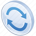 arrow, change, exchange, glossy, refresh, reload, renew, sync, synchronize, update icon