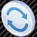 glossy, exchange, update, refresh, reload, renew, arrow, synchronize, change, sync
