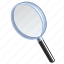 explore, explorer, find, glass, glossy, look, magnifier, magnifying, magnifying glass, search, view, zoom icon