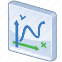 algebra, chart, charts, diagram, function, graph, graphics, line, line chart, math, mathematics, report, statistics icon