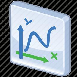 algebra, chart, charts, diagram, function, graph, graphics, line, line chart, math, mathematics, report, statistics icon