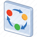 chart, diagram, graph, organization, organize, rotation, scheme icon