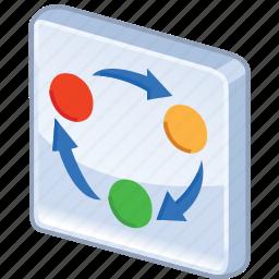 chart, diagram, graph, organization, organize, rotation, scheme icon