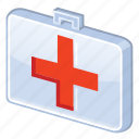 aid, case, clinic, doctor, first, first aid, first-aid, health, healthcare, hospital, kit, medical, medicine, nurse, red cross icon
