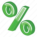 green, income, part, percent icon