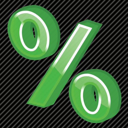 green, income, part, percent icon