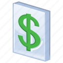 business, cash, dollar, ecommerce, finance, finances, financial, list, listing, money, price, pricelist, shopping icon