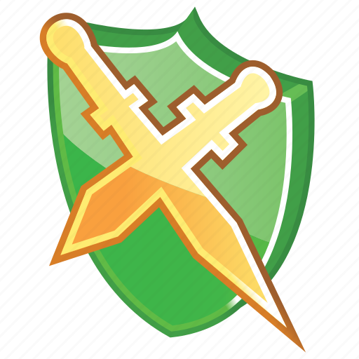 antivirus, locked, privacy, private, protect, protection, secure, security, shield, swords icon