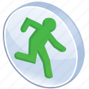 courier, go, maraphon, move, movie, play, run, runner, start icon