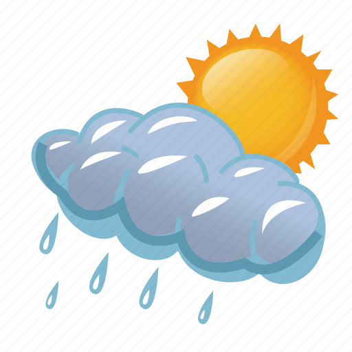 Image result for sun raining icon