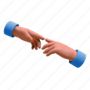 3d, communication, social, connect, touch, hand, gesture