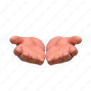 3d, support, give, offer, hand, gesture