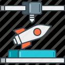 3d, aircraft, automotive, aviation, engine, rocket, spaceship icon