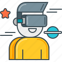 3d, augmented, headset, reality, technology, virtual, vr icon
