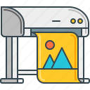 digital, industrial, print, printer, printing icon