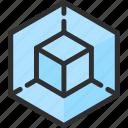 shape, cube, isometric, object