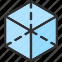 shape, cube, square, isometric, object