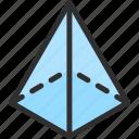 shape, isometric, triangle, object