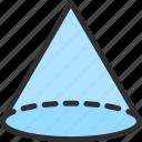 shape, cone, isometric, circle, object