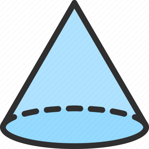 Types Of Cone Shapes: Circle, Cone, Isometric, Object, Shape Icon