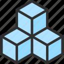 cube, isometric, object, shape