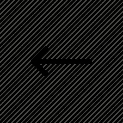 arrow, direction, left, navigation, print 3d icon