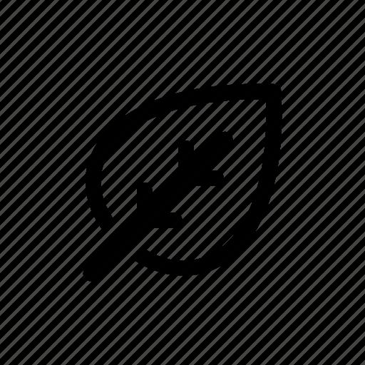 eco, green, leaf, plant, print 3d icon