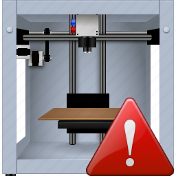 3d printing, 3dprinter, danger, print, printer, problem, warning icon