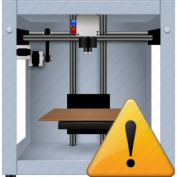 3d printing, additive technology, print, printer, problem button, replicator, warning icon
