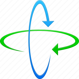 arrow, direction, loop, refresh, rotate, rotation 3d, spin icon