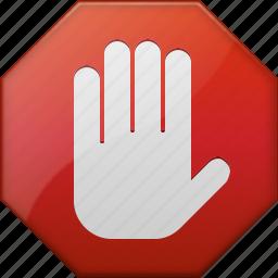 abort signal, cancel, danger, error, forbidden, stop hand, terminate icon
