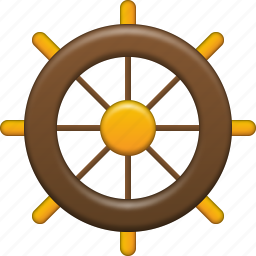 captain tools, control, driver, rule, ship, steering wheel, travel icon