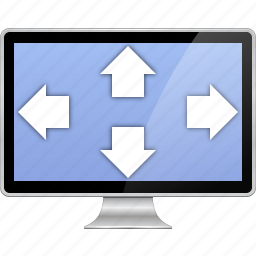 desktop, display, enlarge, fit to screen, full size, fullscreen, zoom in icon