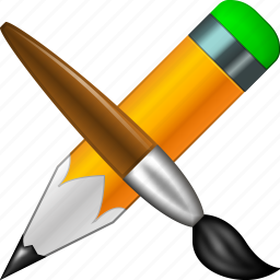 brush, bucket, designs, draw, graphic design, paint tools, pencil icon