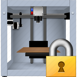 3d printing, 3dprinter, additive technology, lock, locked, print, printer icon