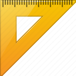 drawing, geometric, measure, measuring, rulers, triangle ruler, units icon