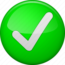 accept, approve, check, confirm, ok button, tick, yes icon