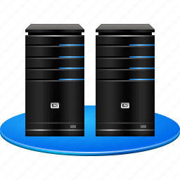 data center, database server, hardware, hosting service, replicator, servers, system icon