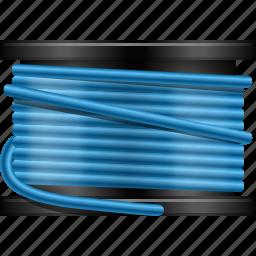 abs plastic spool, apparel, cord, fishing line, roll, string, thread icon