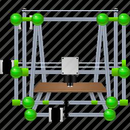 3d print, 3d printer, device, hardware, printing, replicator, reprap icon