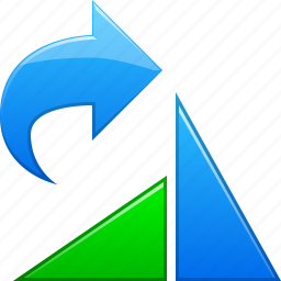 arrow, direction, move, right, rotate object, rotation, user interface icon