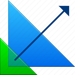 enlarge, interface, proportions, resize, scale, triangle, triangles icon