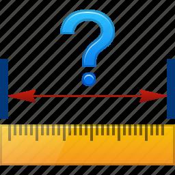 centimeter, length, measure, measurement, ruler, size, width icon