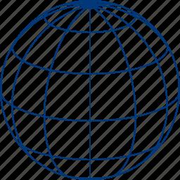global, globe, model, navigation, planet, sphere, world map icon